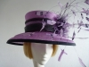 Country Casuals Wedding hat Lavender and Black